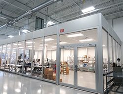 Clean room. Environmentally controlled manufacturing space