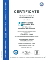 ISO 9001 2008 Certifications