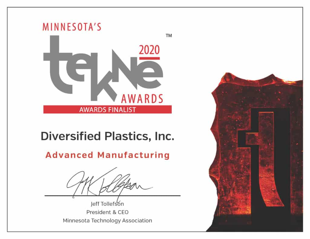 Tekne Awards Finalist | Advanced Manufacturing | Diversified Plastics