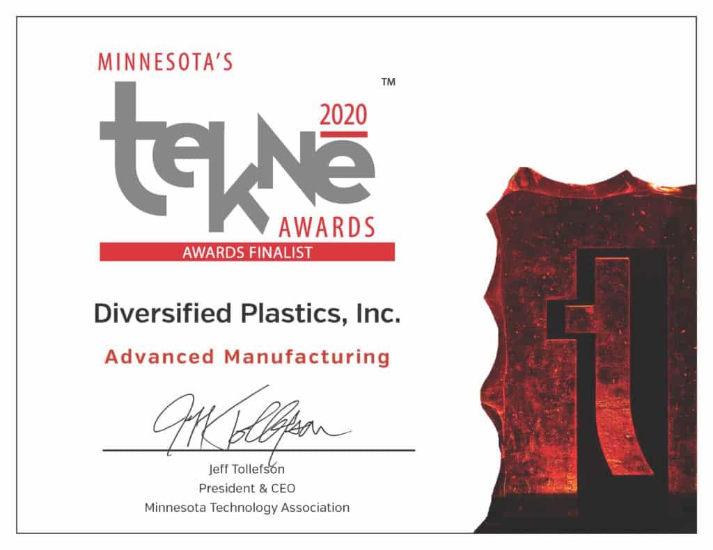 Tekne Awards Finalist   Advanced Manufacturing   Diversified Plastics